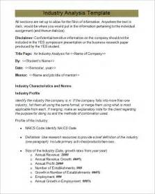 Industry Report Sample 6 Industry Analysis Templates