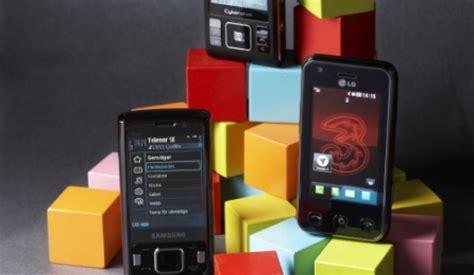 tre mobil tre mobiler med 8 megapixel mobil