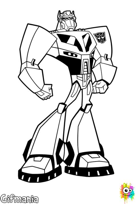 Optimus Prime Coloring Page Transformers Animated Coloring Pages