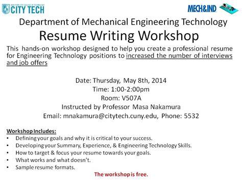 Resume Workshop Writing Resume Workshop I Finished 05 08 2014 Energy And Environmental Simulation Laboratory