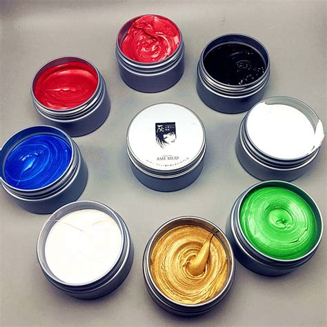Pomade Colour instant hair colour pomades waxes white purple gray silver ash wax hair color wax mud disposable