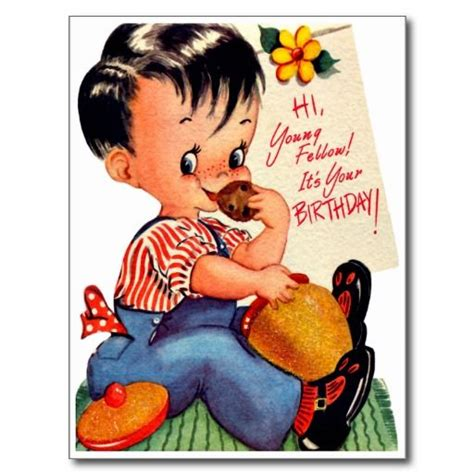 Happy Birthday Wishes To Small Boy 12 Best Images About Boy S Retro Birthday Cards On