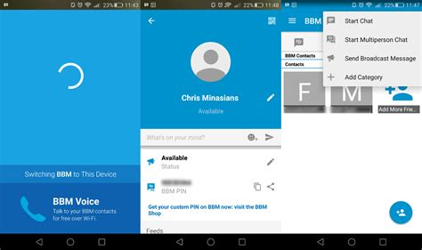 how to use blackberry messenger with android iphone bbm
