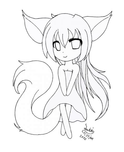 kids coloring pages printable anime fox girl coloring home anime printable coloring pages anime pinterest