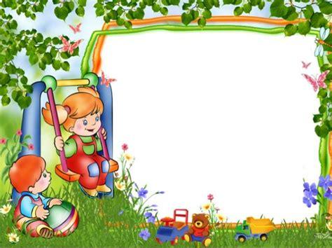 imagenes escolares septiembre para imprimir bordes infantiles verdes parque