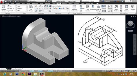 autocad 3d autocad mechanical modeling part1 a 3d model