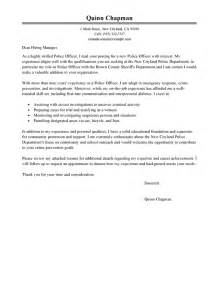 officer cover letter exles