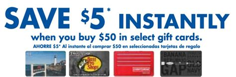 Grocery Gift Card Deals - instantly save 5 on select gift card purchases at food maxx save mart