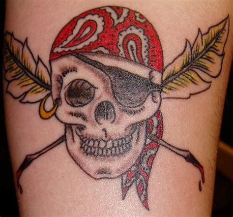 skull pirate tattoo design skull pirate