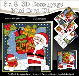 3d Decoupage Picture Kits - santa a4 child s letter from santa cup375487