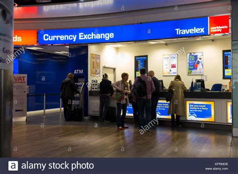 bristol airport bureau de change travelex airport stock photos travelex airport stock
