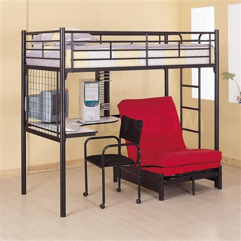 Loft Bunk Bed With Desk Workstation Loft Bunk Bed With Futon Chair Desk Coaster 785 00 Furniture Store