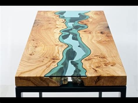 Wood Dining Room Sets wood tables embedded with glass rivers youtube