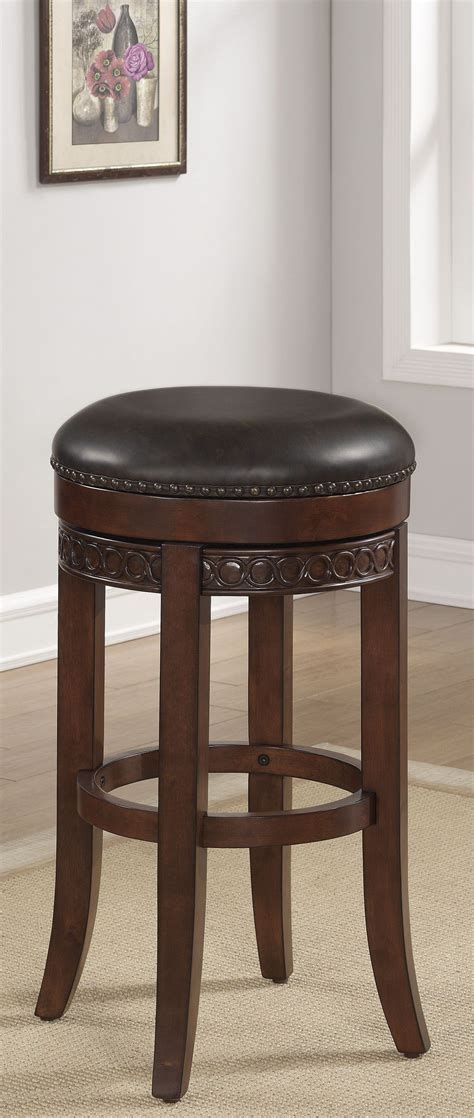 34 Backless Bar Stools by B2 251 34lsu 34 Quot Wood Frame Backless Bar Stool From