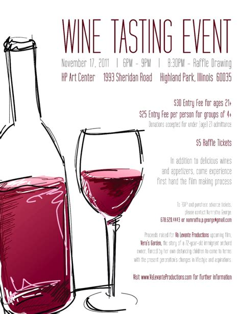 wine tasting flyer template images