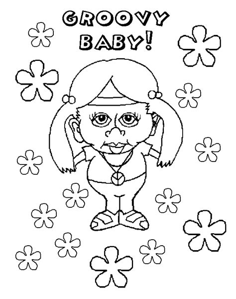 groovy girl coloring pages coloring home