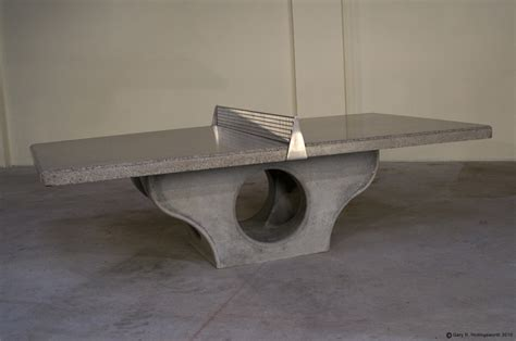 Concrete Table Tennis by Play Ping Pong On Concrete Henge Tables