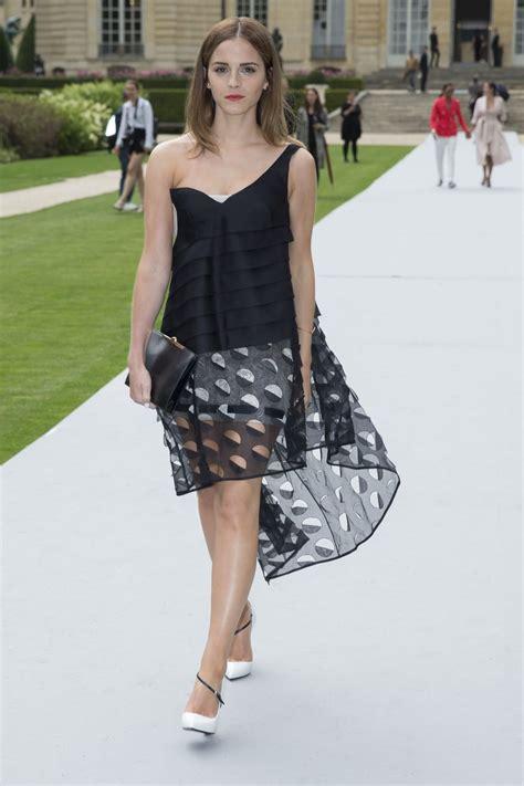 Emma Watson Fashion   emma watson at christian dior fashion show in paris