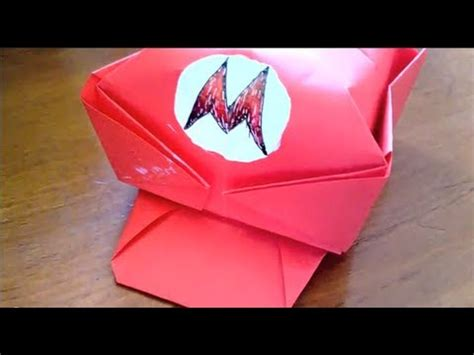 How To Make A Mario Hat Out Of Paper - origami how to make mario s cap