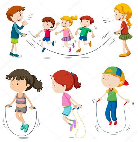 imagenes niños saltando la cuerda ni 241 os y ni 241 as saltando la cuerda archivo im 225 genes