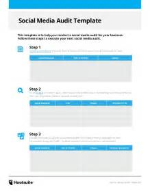social media audit template social media audit template via hootsuite