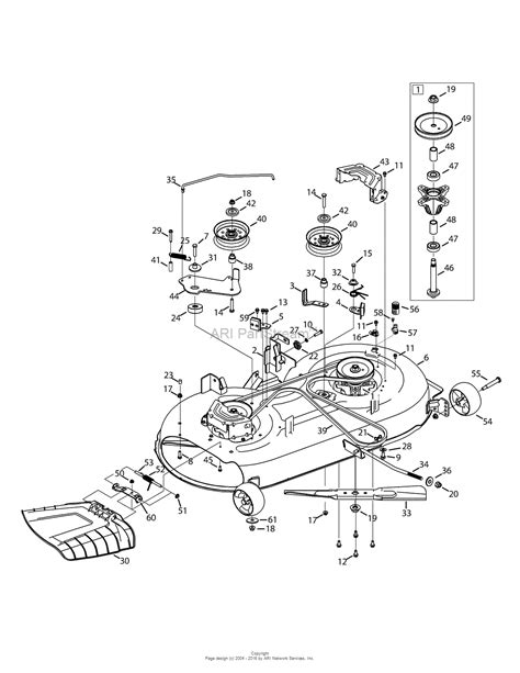 mtd mower deck diagram mtd 13ax795s004 2015 parts diagram for mower deck 42 inch