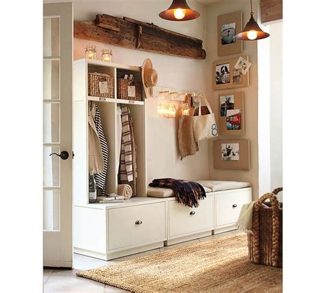 pottery barn entryway bench entryway mudroom inspiration ideas coat closets diy