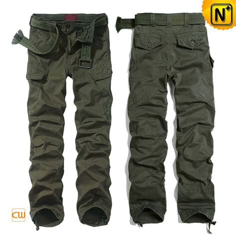 Mens Buffalo Outdoor Pant 78 Sz 34 100 Original green cargo trousers for cw100032