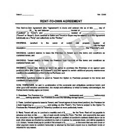 Rent To Own Agreement Template by Rent To Own Agreement Create A Free Rent To Own Contract