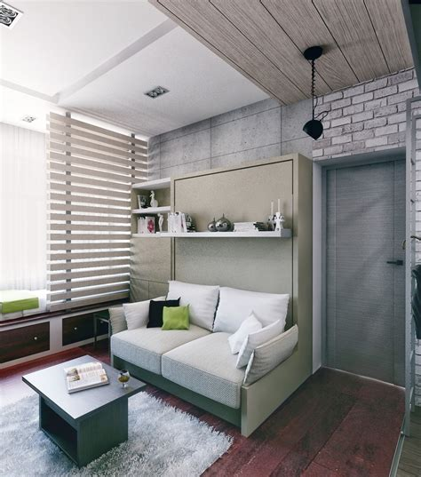 sofa murphy bed combination 6 beautiful home designs 30 square meters with