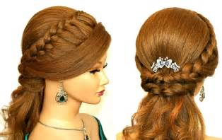 by hairstyle easy prom hairstyle for medium long hair youtube