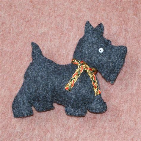 felt ornament scottie dog scottish terrier christmas