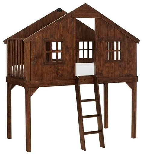 treehouse loft bed treehouse bed contemporary kids beds by pottery barn