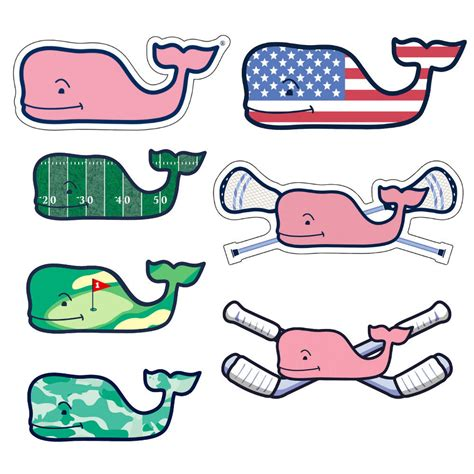 Vineyard Vines Football Sticker