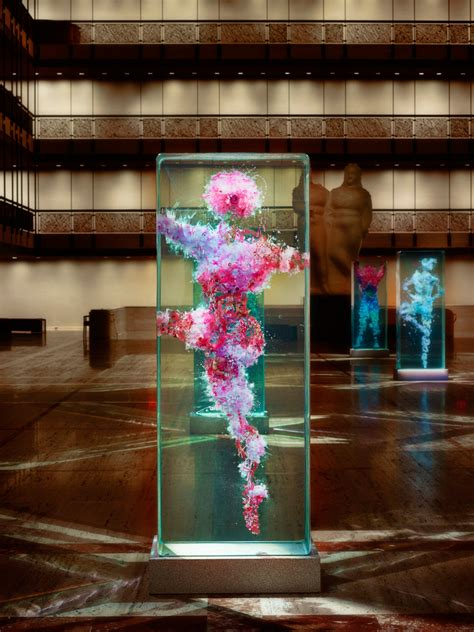 designboom dustin yellin dustin yellin infills lincoln center with glass dancers