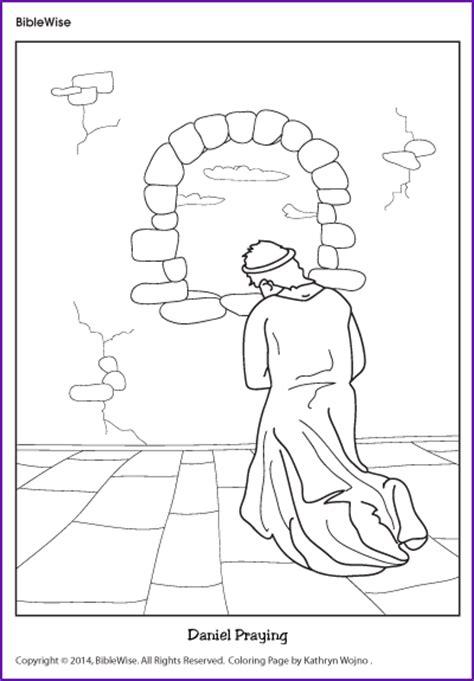 coloring daniel praying kids korner biblewise