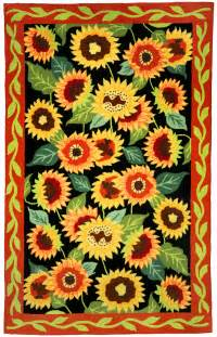 Sunflower Area Rug Sunflower Home Decor Homefires And Earth Rugs Sunflower Themed Rugs