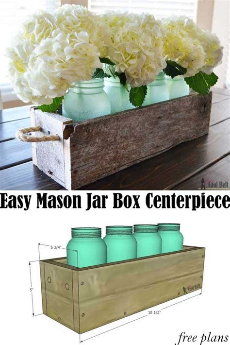 box decorations best 25 wooden box centerpiece ideas on table