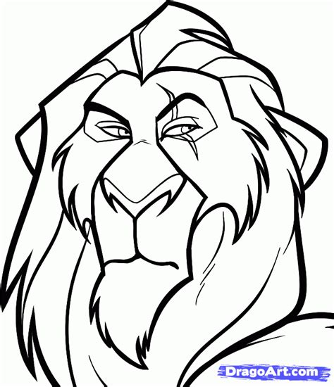 easy drawing how to draw scar easy step by step disney characters