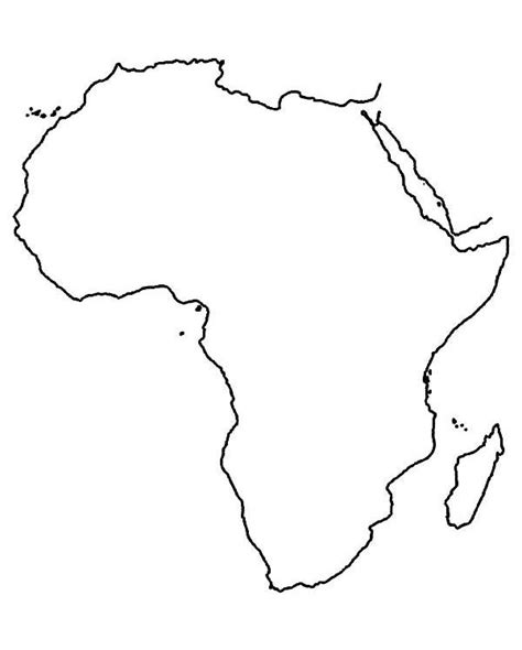36 best africa map outline images on best photos of africa continent template blank africa