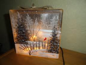Winter Wonderland Themed Decorating - crafty glass block ideas you will love craft projects for every fan