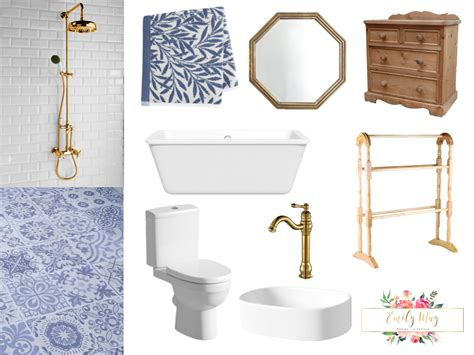 Blue And White Bathroom by Blue And White Bathroom Design Sneak Preview Emily May