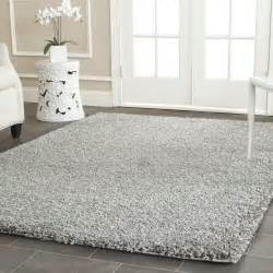Wall Stickers Circles silver thick white shag area rug comfortable home