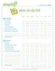 To Do List Template For Kids Daily To Do List Free To Do List