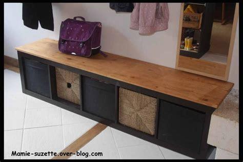 Banc Rangement Chaussures Ikea by Ikea Expedit Relook 233 En Banc Pour L Entr 233 E Avec Rangements