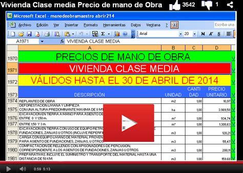 lista de pecios de mano de obra de uocra formatos y modelos legales vivienda abril 2014 precios de