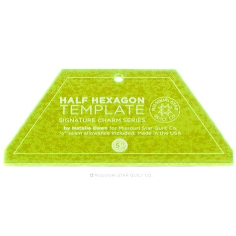 hexagon ruler templates small half hexagon template for 5 quot charm packs 2 5