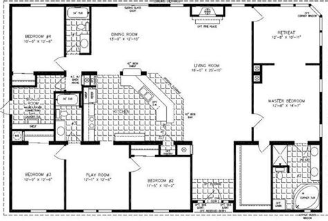 4 5 bedroom mobile home floor plans 4 bedroom modular homes floor plans bedroom mobile home