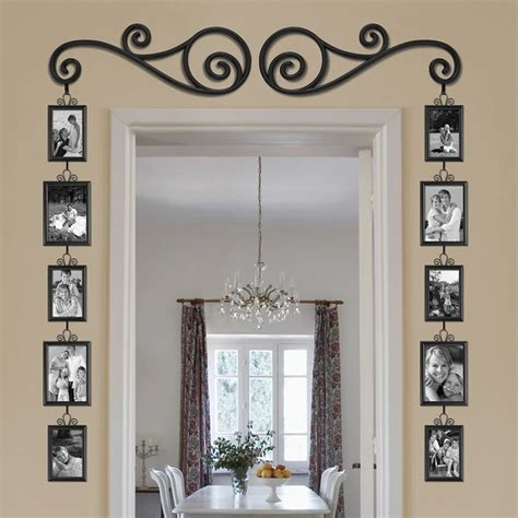 hanging for doorway stylish scroll and picture door frame home design