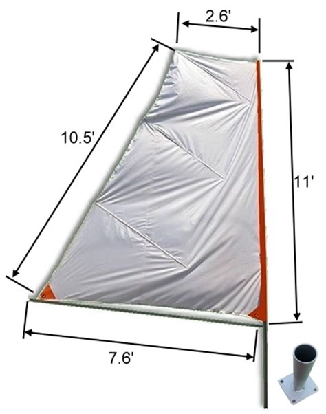 sailing boat dimensions portable foldable travel sail kit for diy sailing project